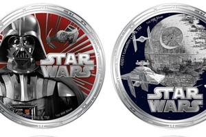 New coins from the NZ Mint - depicting Star Wars characters - will be legal tender in Niue. Photo / supplied