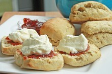 Zesty green tea scones. Photo / Supplied