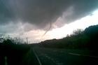 Tornado in Northland caught on camera by WeatherWatch.co.nz reader Ellie Farnham. Photo / supplied