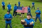 The American Eagles slow-pitch softball team start their new season in October. Photo / Steven McNicholl