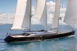 New Zealand-built superyacht Vertigo is among those tipped to be in town for the Cup. Photo / Supplied