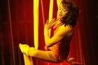 Silk strap artist Faon Shane flies high. Photo / Herald on Sunday