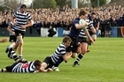 Christchurch Boys' High School fullback Tom Turner during the annual match against Christ's College, won by Boys' High 43-13. Photo / Jake Turner