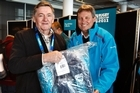 Neil Fisher was first in line to get his uniform from Cup boss Martin Snedden. Photo / Steven McNicholl