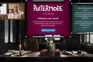 There have already been more than 22 million views of the Pottermore home page. Photo / Supplied