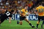 Stirling Mortlock's 80m gallop was the defining memory of the match which the Wallabies won 22-10. Photo / Getty Images
