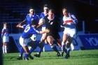 John Kirwan weaves through the Italian defence in 1987. Photo / Photosport