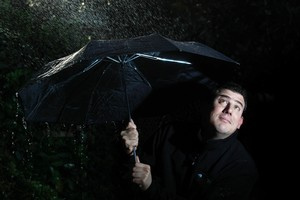 Philip Duncan, 33, former radio ad-man and self-styled 'weather analyst', set up the WeatherWatch website. Photo / Richard Robinson