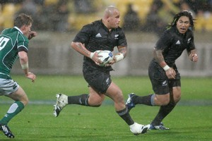 Apia-born John Schwalger (left) was never All Black class, but he could be a key asset to Samoa. Photo / Mark Mitchell