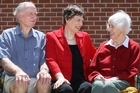 Former Prime Minister Helen Clark with her parents George and Margaret. Photo / Joel Ford
