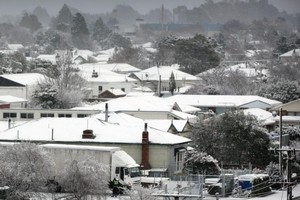 Masterton was just one part of New Zealand to be covered in snow today. Photo / supplied