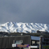 Some snow on the top of the hills in Porirua. Photo / Vicki Christian