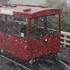 The Wellington cable car arriving at the top of it's run during heavy snow. Photo / Mark Mitchell
