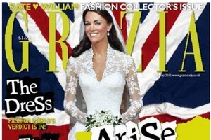 British magazine 'Grazia' admitted it had photoshopped an image of the Duchess of Cambridge, which led to an 'inadvertent' slimming of her waist. Photo / Supplied