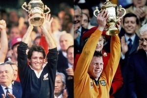 The All Blacks and Australia were the first two teams to lift the Rugby World Cup. Photo / Getty Images
