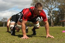 Brad Thorn and his All Black colleagues will be unleashed against the Wallabies in Brisbane tomorrow night. Photo / Getty Images