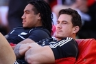 Sonny Bill Williams (right) will have to watch from the stands at Suncorp Stadium while Ma'a Nonu starts at No 12. Photo / Getty Images