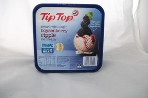Tip Top boysenberry ripple ice cream. Photo / Supplied