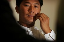 Hein Min Aung says he was forced into the Burmese Army at 14 and made to clear landmines. Photo / Greg Bowker 