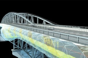 An artist's impression of how the proposed Auckland Harbour Bridge pathway would look from the outside. Photo / Supplied