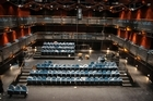 The main auditorium at Q has a European courtyard-style design which allows the seats to be removed completely. Photo / Greg Bowker