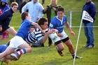 Otago Boys' High (blue jerseys) has been producing All Blacks since 1905. Photo / APN
