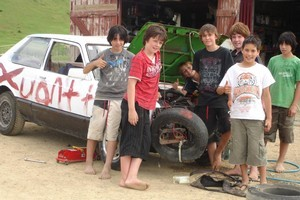 Town kids can get their hands dirty at The Mean As Boys Camp. Photo / Supplied