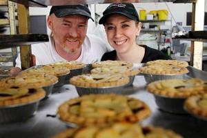 Shane and Kathy Kearns from Viands Bakery in Kihikihi. Photo / Christine Cornege
