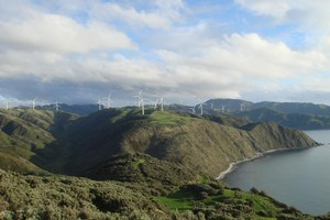 Makara Wind farm, owned and operated by Meridian Energy. Photo / Supplied