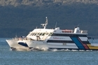 The Fullers ferry was on its way to Waiheke Island when the fire began. Photo / Paul Estcourt