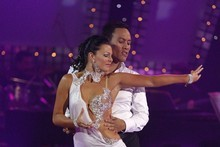 Samantha Hitchcock and Tamati Coffey in Dancing with the Stars. Photo / Supplied