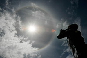 Is this a sign of the end of the world or just a sun halo? Photo / Greg Bowker