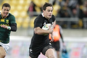 Zac Guildford during the Tri-Nations test match played at Westpac Stadium in Wellington. Photo / Mark Mitchell