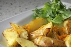Mustard orange kumara & potato wedges. Photo / 	Bay of Plenty Times