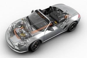 Porsche's developmental electric Boxster E. Photo / Supplied