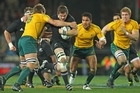 All Blacks captain Richie McCaw in action against the Wallabies. Photo / Getty Images