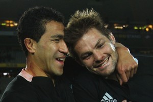 Richie McCaw and Mils Muliaina are both poised to reach the 100 test mark during the Rugby World Cup. Photo / Hannah Johnston