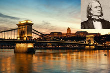 Hungary is celebrating the bicentenary of the birth of composer Franz Liszt (inset). Photos / Thinkstock