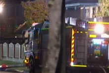 Eleven people remain unaccounted after a fire engulfed a house in Brisbane's south. Photo / ninemsn, Channel 9