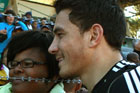 Sonny Bill Williams signs autographs in South Africa. Photo / Getty Images
