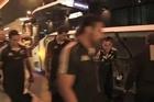 All Blacks arrive in Brisbane.