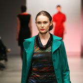 A model wears a creation by Emma Manhart in the New Generation fashion show. Photo / Babiche Martens