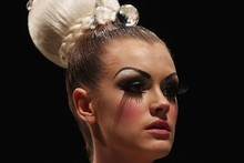 The models at World's Fashion Week 2011 show were jewel-bedecked with strong, high eyebrows. Photo / Getty Images