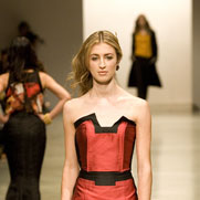 A model wears a creation by Two Wonders in the New Generation fashion show. Photo / Babiche Martens