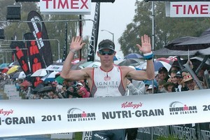 Cameron Brown has set a world record by winning the Ironman NZ at Taupo 10 times. Photo / Supplied