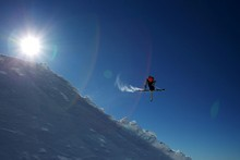 US competitor Lyman Currier attempts a jump at Winter Games New Zealand.