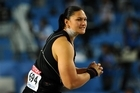 Valerie Adams set a new personal best with her last put at the world championships. Photo / Getty Images
