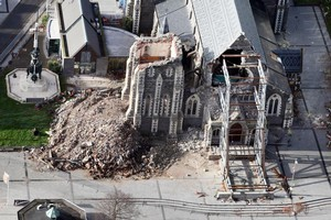 The aftermath of the quake. Photo / NZPA