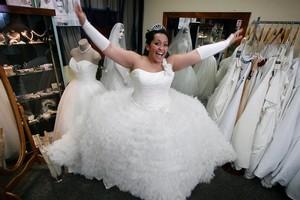 Barbara Williams, 23, chose a wedding dress inspired by Disney fairy tales. Photo / Janna Dixon