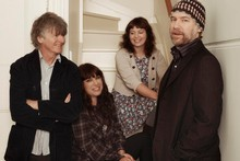 The Pajama Club featuring Neil Finn, Sharon Finn and SJD. Photo / Supplied